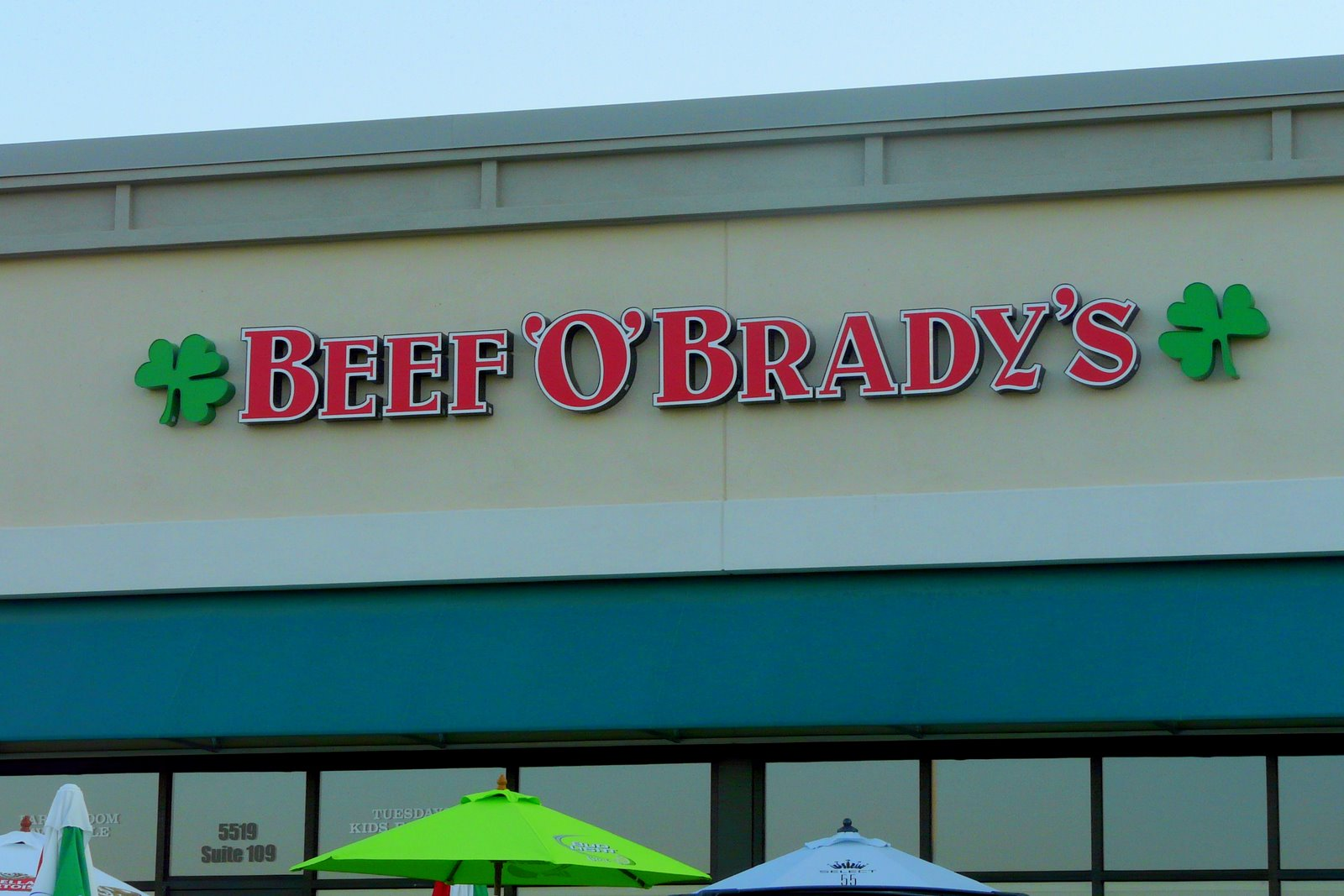Image result for Beef 'O' Brady's hoover