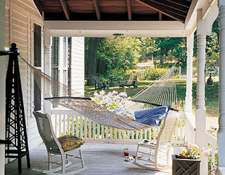 Tales from bloggeritaville its a progressive porch party if you dont have enough room for a sleeping porch how about carving yourself some room for a nap on the porch with a hammock like this space below solutioingenieria Image collections