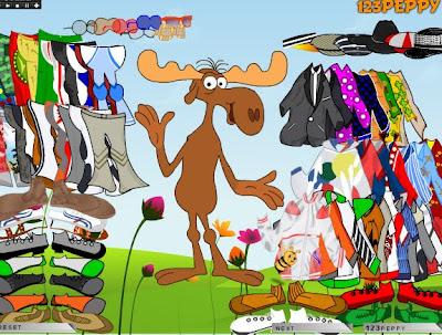Juego de vestir el reno