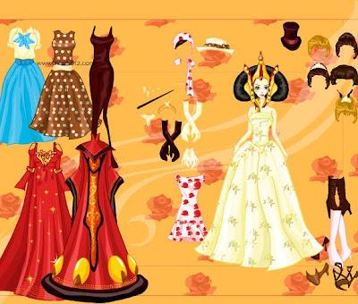 bonito juego de vestir a Barbie princesa,ayuda a tu amiga barbie para