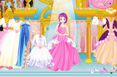 Juego de trajes y peinados para la princesa Selena