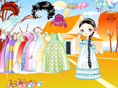 Vestidos, trajes y peinados para la muñequita princesa