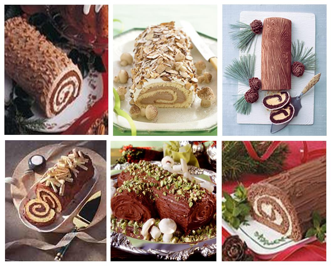 Yule Log Fire Clip Art Chopped nuts yule log