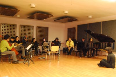 Experimental workshop on relation of painting & music with Istanbul Technical University MIAM music