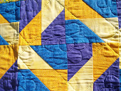 Blue and Gold Friendship Quilt