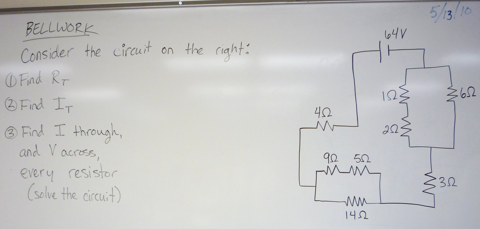 Physics At Desert View High School Compound Circuits Practice Find Equivalent Resistance In This Circuit Finding Step By
