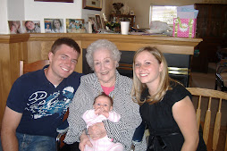 With Tracy's Grandma Job on her 90th birthday and our niece hannah banana