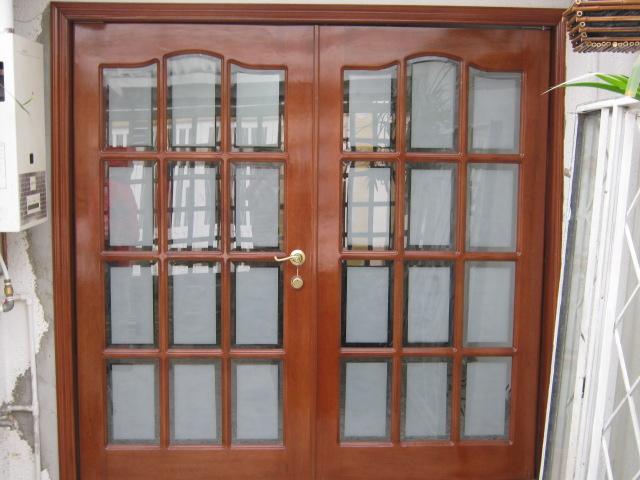 Muebles traso puertas vidrio biselado for Puertas en madera y vidrio