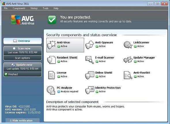 AVG Anti-Virus Pro 2011