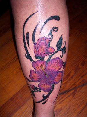 Hawaiian Flower Tattoos | Exotic Flowers Tattoos