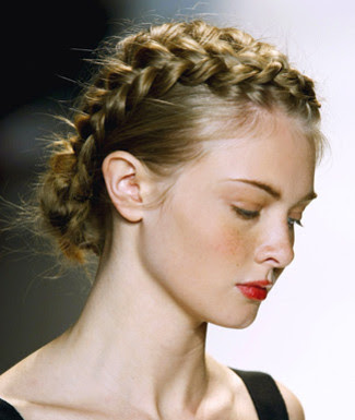 bob with single french plait. Braid hairstyles gives artistic impression on