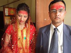 बुटवलमा विवाह- बहिनी आशा क्षेत्री आफ्ना जीवनसाथी सँग
