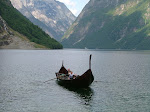 Viking boat replica in Gudvangen.