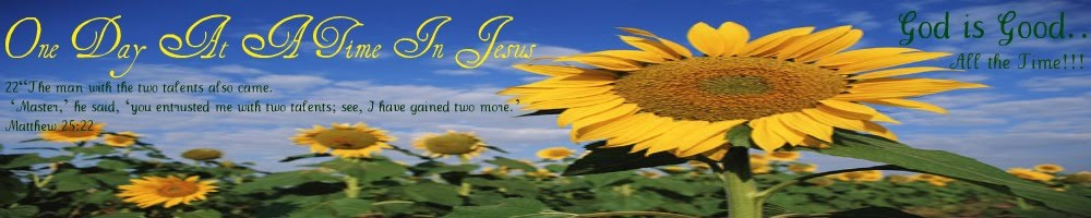 One day at a time in Jesus