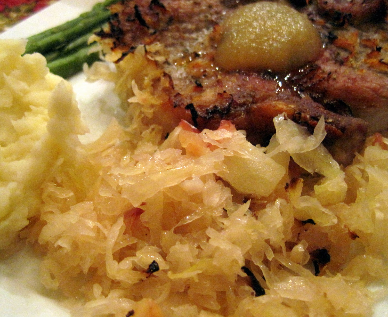 Oven Baked Pork Chops and Sauerkraut
