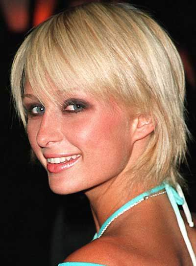 Paris Hilton Short Hairstyle 2010