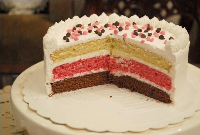 Neapolitan Ice Cream Cake Neapolitan ice cream in cake