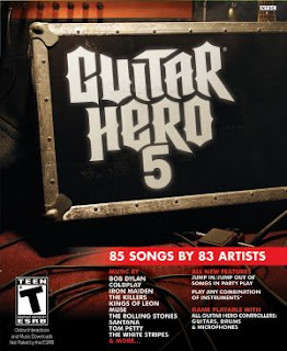 guitar, hero 5, poster, front page, video, game, ps, xbox, wii, image, cover