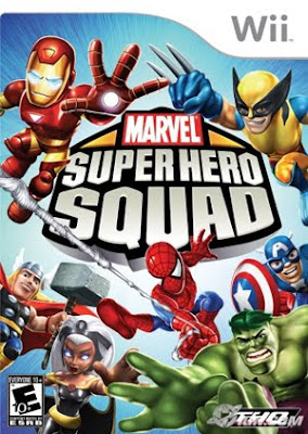 marvel super hero squad, video, game, cover, Wii, DS, PS, PSP