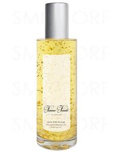 cosmétique luxueux huile or