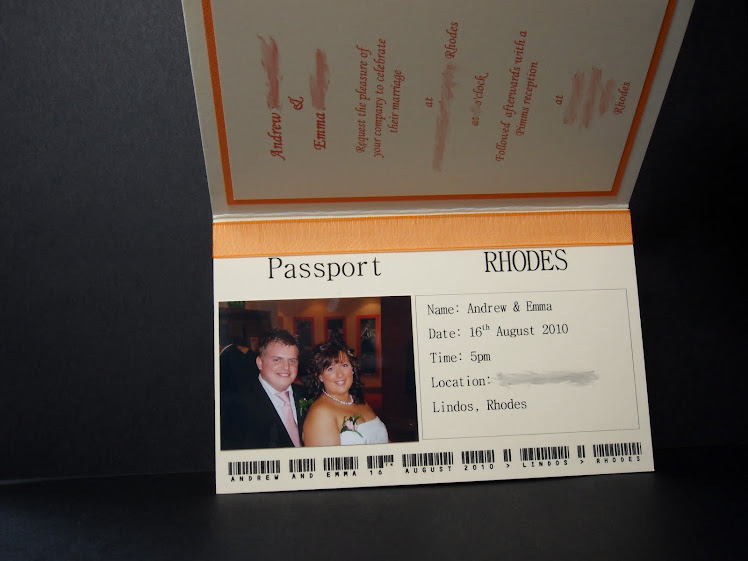Emma & Andrew Passport Invite