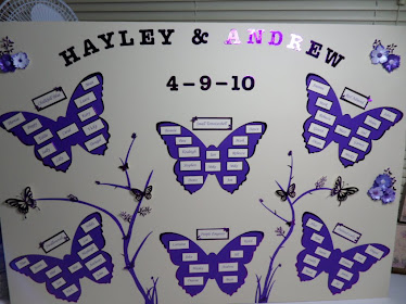 Hayley and Andrews wedding seating plan