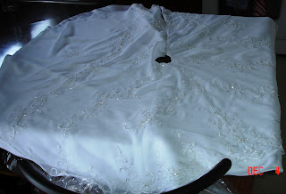 Wedding Gown to Christmas Tree Skirt photo 2