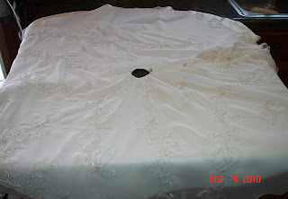 Wedding Gown to Christmas Tree Skirt photo 5