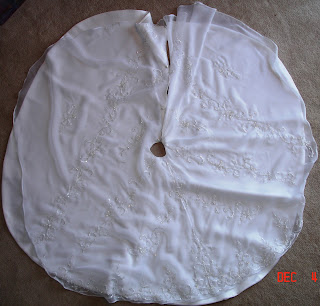 Wedding Gown to Christmas Tree Skirt photo 8