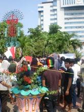 Pedagang Lorong 104 Demo
