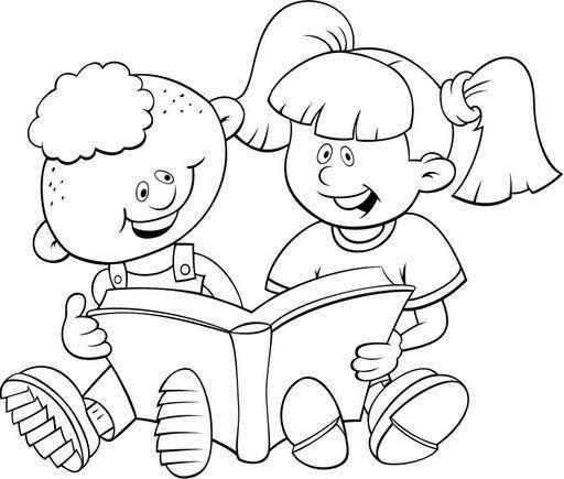 dibujos de lectura infantiles: