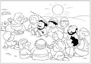 Jesús y los discípulos. (Títeres) sermon del monte colorear
