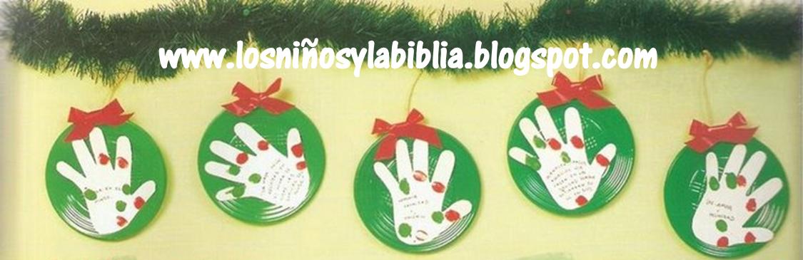 Los ni os y la biblia guirnaldas de paz - Trabajos manuales para navidad ...