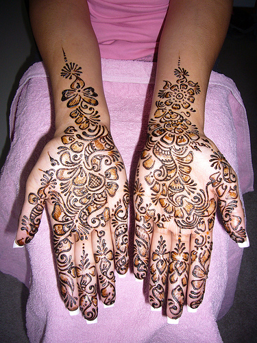 There are different henna (Mehndi) tattoo