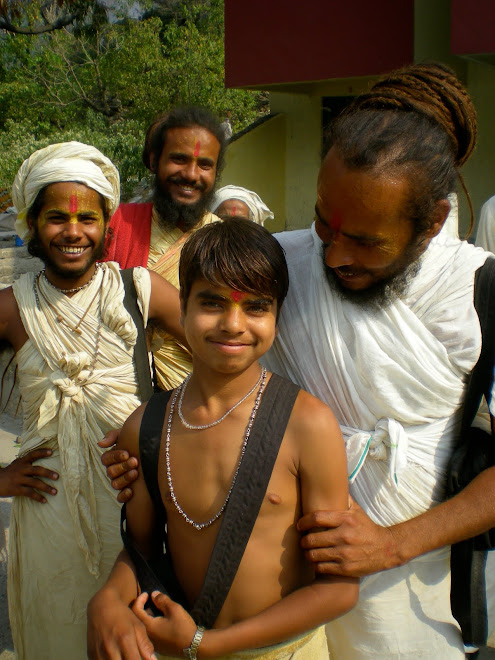 A Young Sadhu in Rishikesh for Kumbha Mela Gets His Photo Taken for the First Time