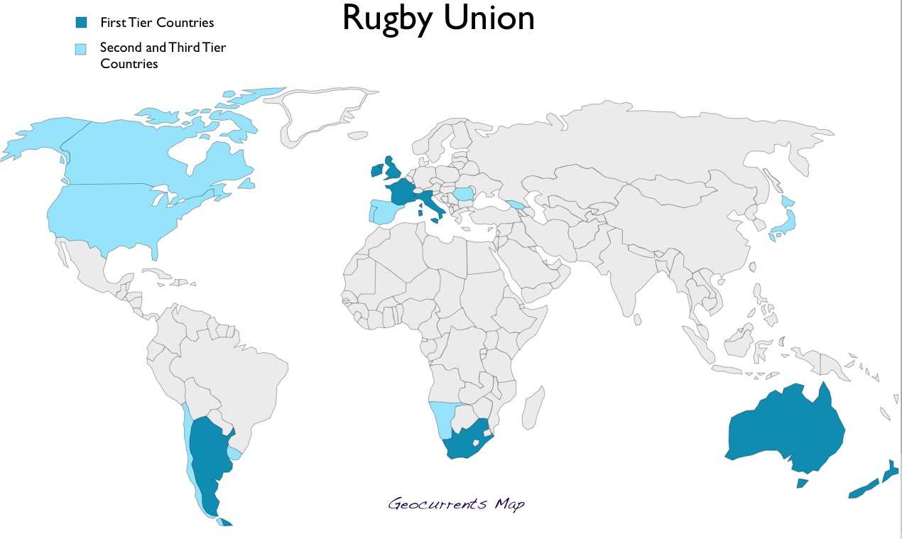 The nations of rugby the world of rugby geocurrents people men especially tend to bond with places through their identification with athletic teams following sports also teaches geography gumiabroncs Gallery