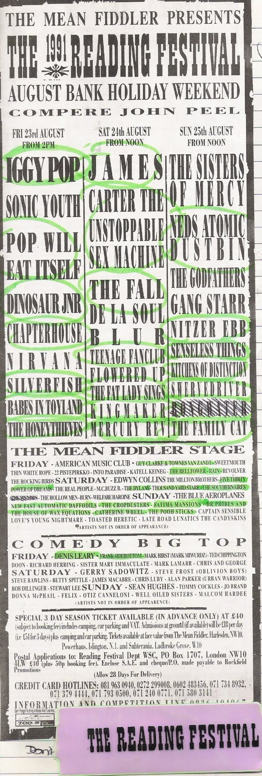 191 THE 1991 READING FESTIVAL