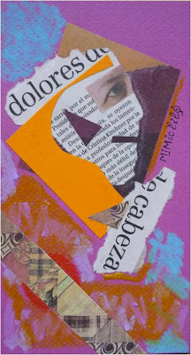 óleo pastel y collage