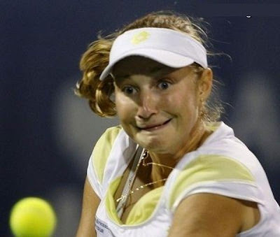 Funny Faces of Tennis Players ..