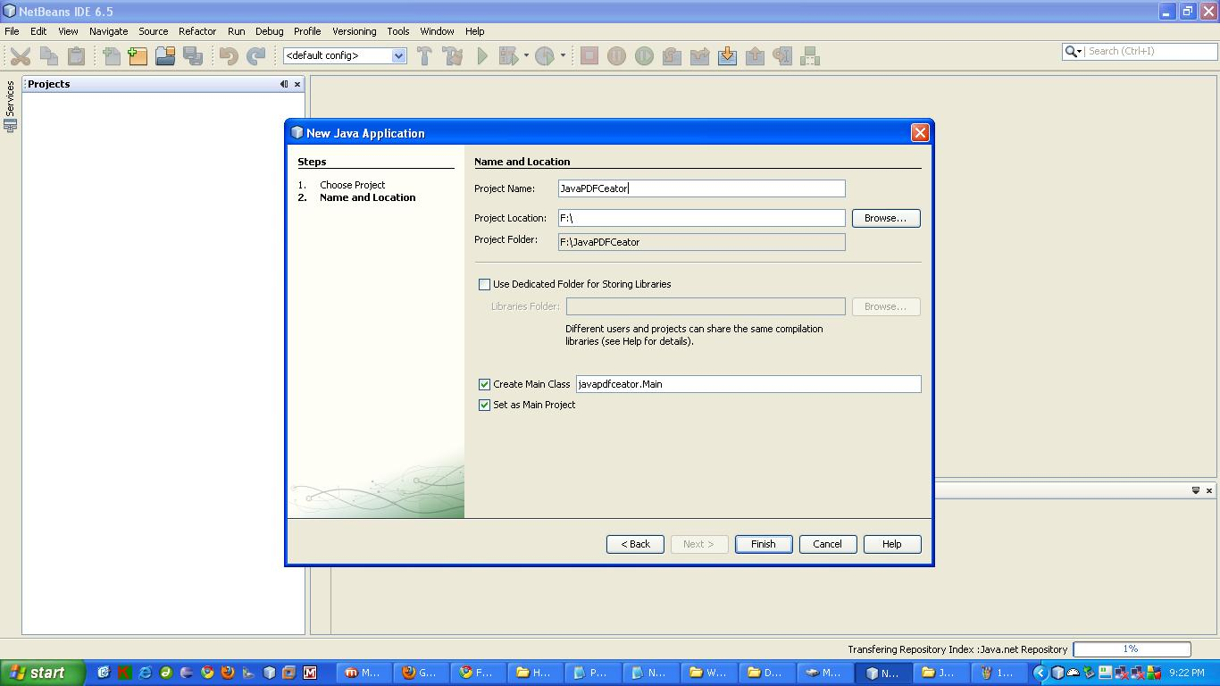 Generate PDF Report using JASPER Report API in JAVA