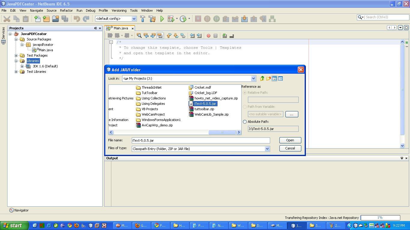 Create PDF In Java using Templates