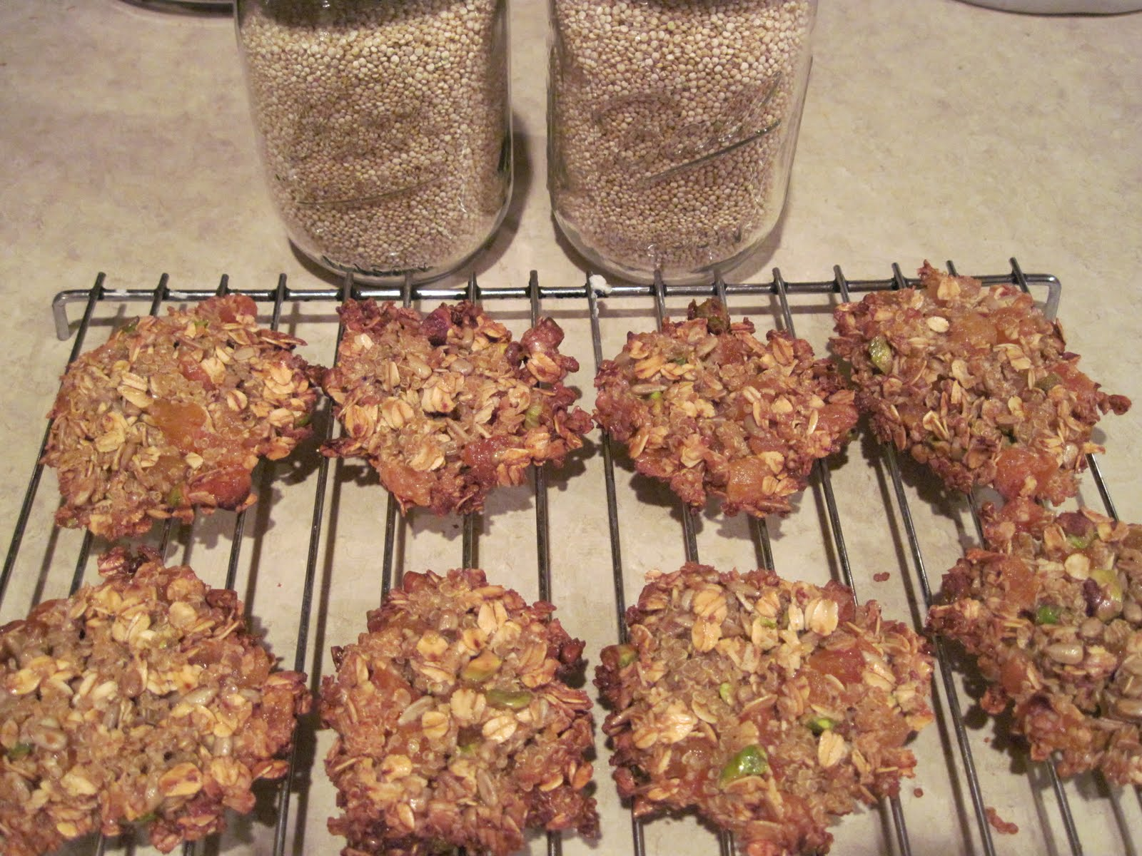 Quinoa, Apricot, And Nut Clusters Recipe — Dishmaps