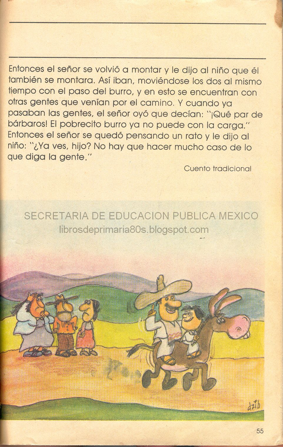 Libros de Primaria de los 80\'s: El señor, el niño y el burro (Mi ...