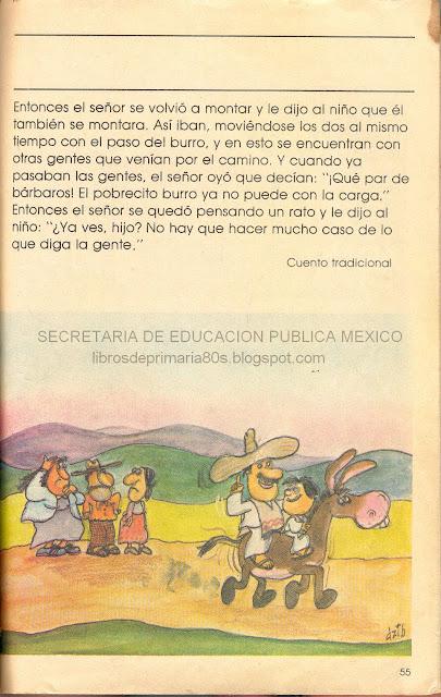 de los 80's: El señor, el niño y el burro (Mi libro de segundo