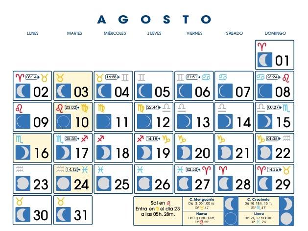 Centro astrologico venezolano calendario lunar agosto 2010 Fase lunar octubre 2016