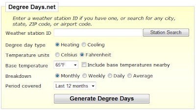 Look Up Heating Degree Days