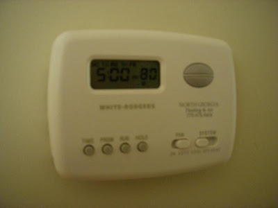 Thermostat Set to 80&deg;F