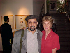 Poeta Silas Correa Leite e Dorothy Janson Moretti, no MIS-Museu da Imagem e do Som de São Paulo