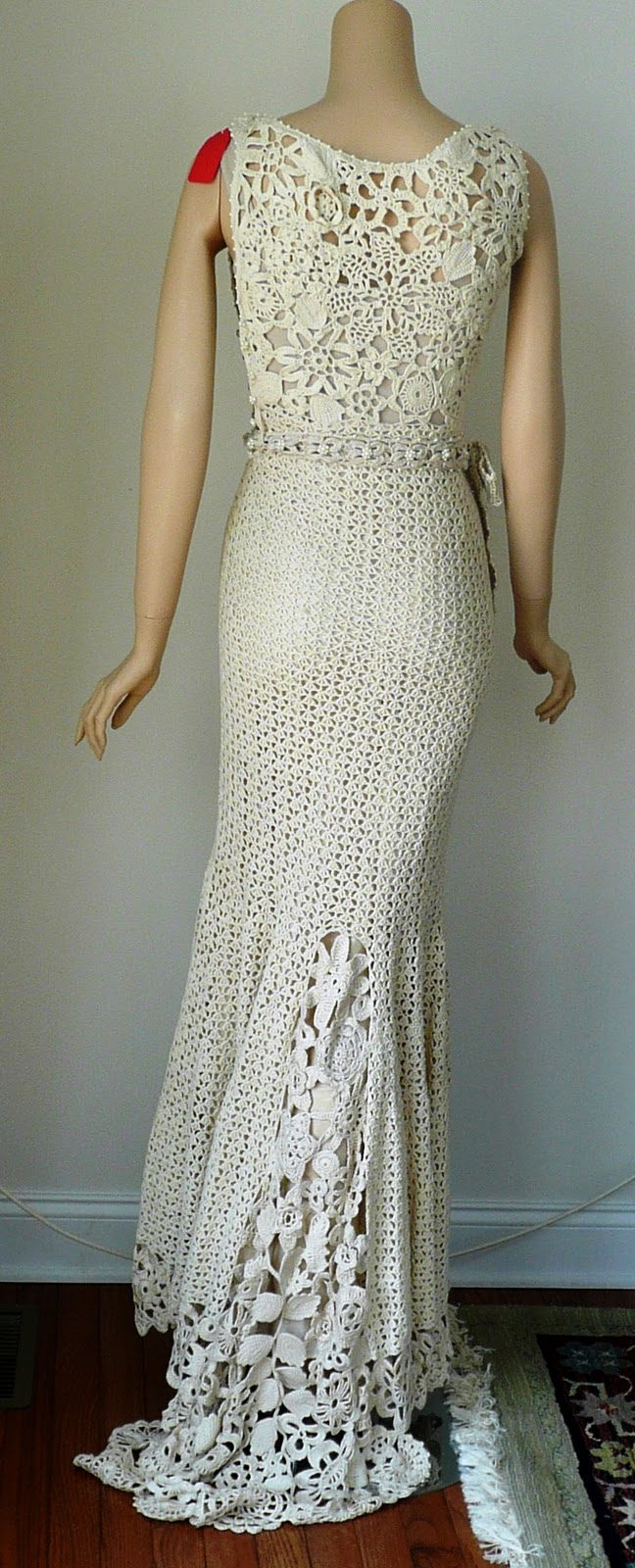 Crochet dress pattern wedding crochet patterns for Crochet wedding dress pattern