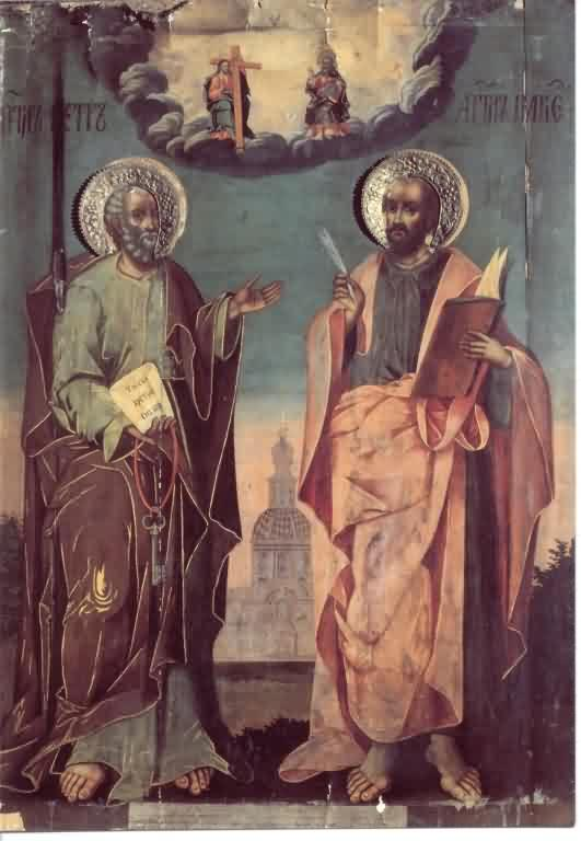 Saint Pierre et Paul dans images sacrée Holy_Glorious_and_All-Praised_Leaders_of_the_Apostles_Sts_Peter_and_Paul_Martyrs_June_29,_64